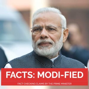 FACT CHECKING CLAIMS BY THE PRIME MINISTER